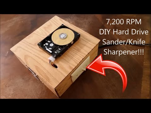 🔴 7,200 RPM Hard Drive Sander/Grinder - DIY Project