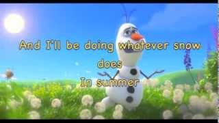 In Summer [from Frozen] (instrumental karaoke) (with lyrics)
