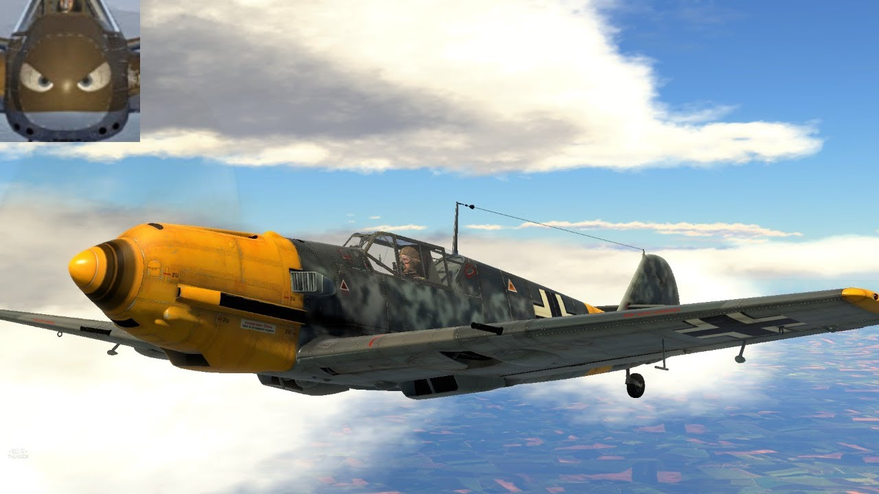 War Thunder SIM - 109 E7 - With Friends