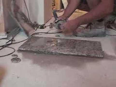Perforar con radial granito drill granite youtube for Granito vs marmol