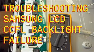 troubleshooting lcd backlight failure samsung lnt 4066