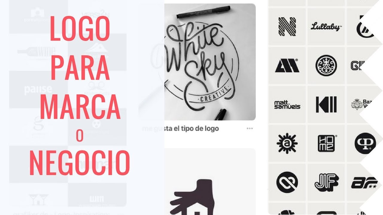 Cómo Crear Un Logo Para Una Empresa Marca Negocio Pagina Youtube