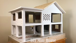 how to Paint Walls and Roof Tiles - DIY Mini House