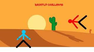 my cool backflip challenge cartoon animation (drawing cartoons 2)