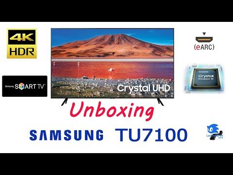 SAMSUNG TU7100 CRYSTAL UHD TV 2020 UNBOXING (ESPAÑOL) Parte1