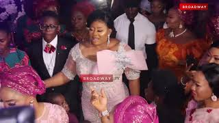 Emotional Moment Ayo Adesanya's Son Brought His Mum On Her 50th Birthday