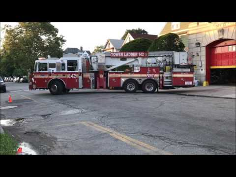 FDNY RESPONDING COMPILATION 63 FULL OF BLAZING SIRENS & LOUD AIR HORNS THROUGHOUT NEW YORK CITY.