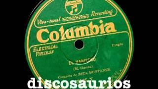 Rita Montaner con Orquesta - El Manisero (pregón) Moisés Simons, noviembre 1927