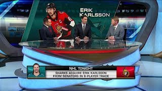 NHL Tonight:  on the Karlsson trade:  Johnson and Parrish analyze the Karlsson trade  Sep 13,  2018