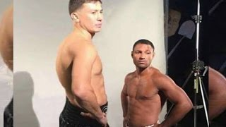 THE REAL SIZE DIFFERENCE BETWEEN GENNADY GOLOVKIN and KELL BROOK | LGv3