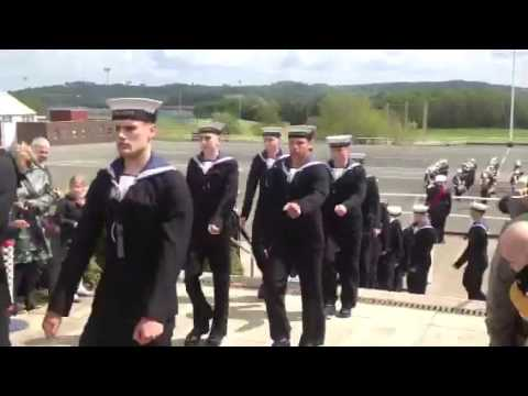 HMS Raleigh Cunningham 22 division passing out parade 24/05