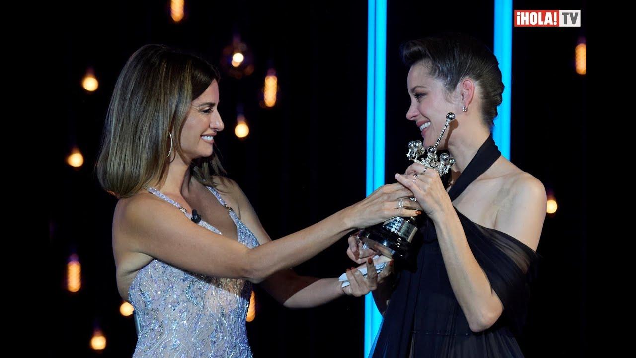 Marion Cotillard y Penélope Cruz, las más distinguidas del Festival de San Sebastián 2021  ¡HOLA! TV