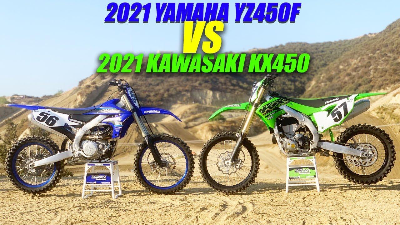 2021 Yamaha YZ450F vs Kawasaki KX450