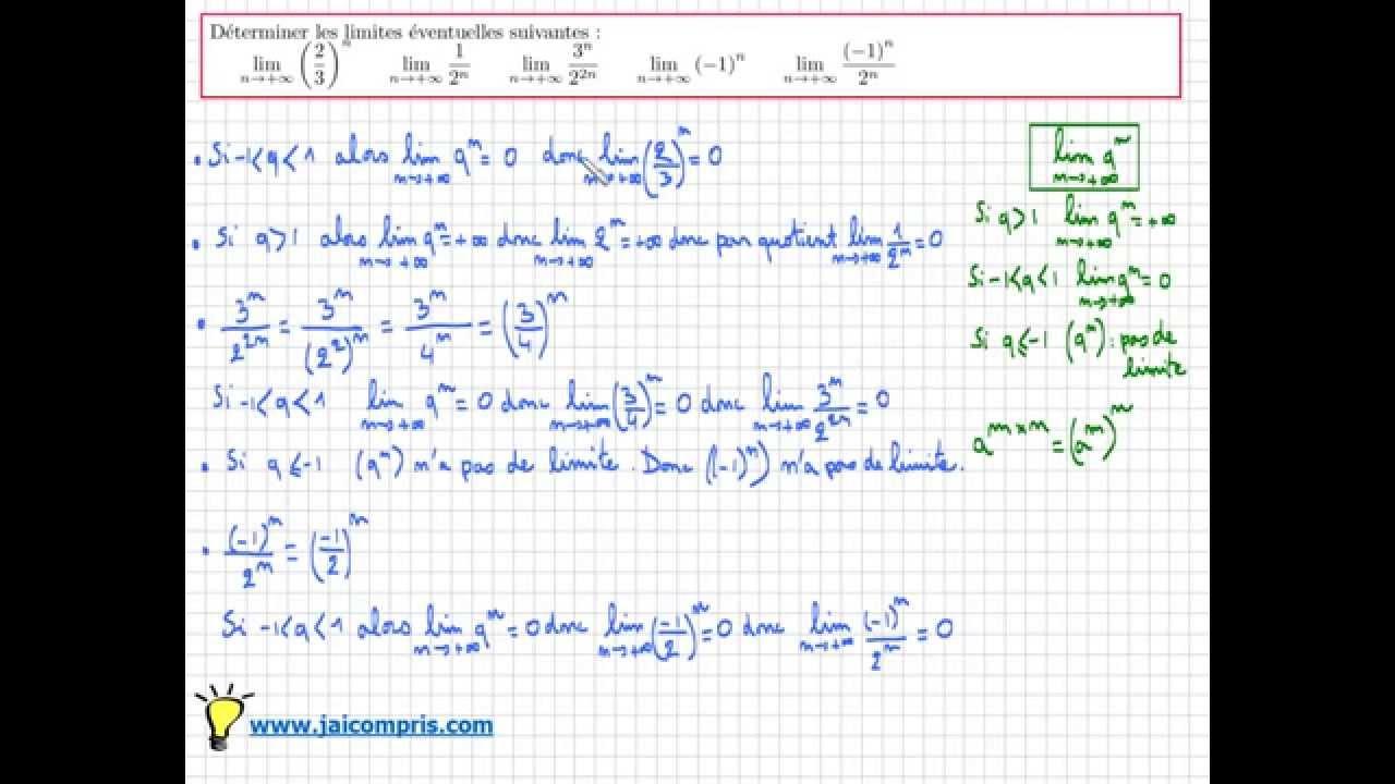 limite de suite géométrique - exercice facile pour comprendre le cours - Terminale S - YouTube