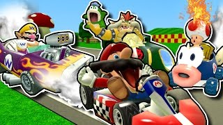 Mario and the gang play some Stupid Mario Kart game modes to see wh...