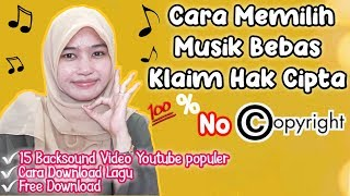 Gambar cover Cara Memilih Backsound Video Youtube No Copyright | Download Lagu