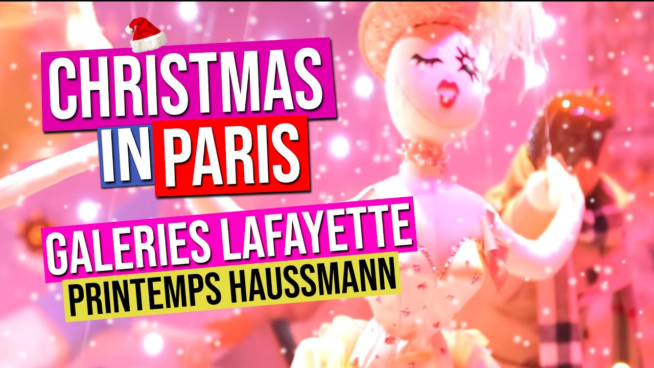 Galeries lafayette printemps haussmann vitrines de noel christmas windows paris france youtube - Vitrines galeries lafayette 2016 ...