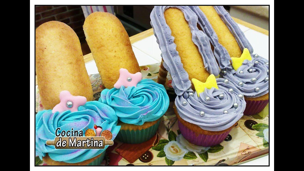 Cupcakes zapatos recetas de cocina cocina de martina - Zapatos de cocina antideslizantes ...