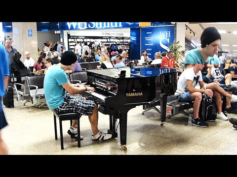 Crazy Piano Improvisation Airport Malta