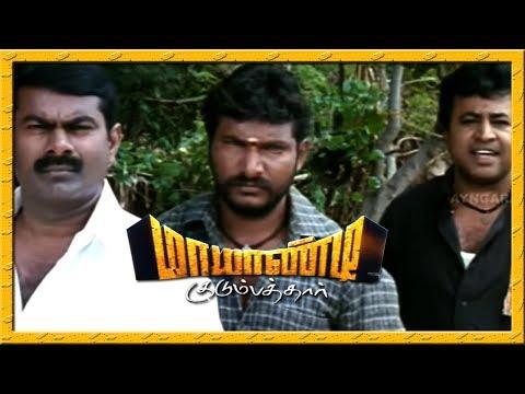 Mayandi Kudumbathar Tamil Movie   Seeman Fights With Opposite Team   Manivannan
