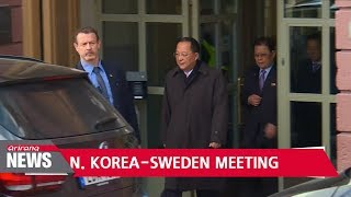 """FMs of Sweden, N. Korea discuss """"diplomatic efforts to peacefully solve"""" N. Korea issue"""
