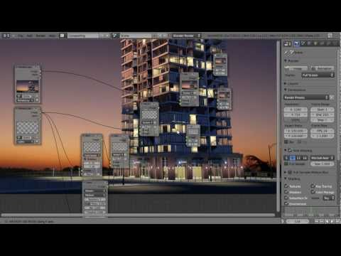 How to Create a High Rise Building in Blender - Part 2 of 2