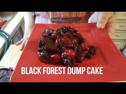 How to make Black Forest Dump Cake