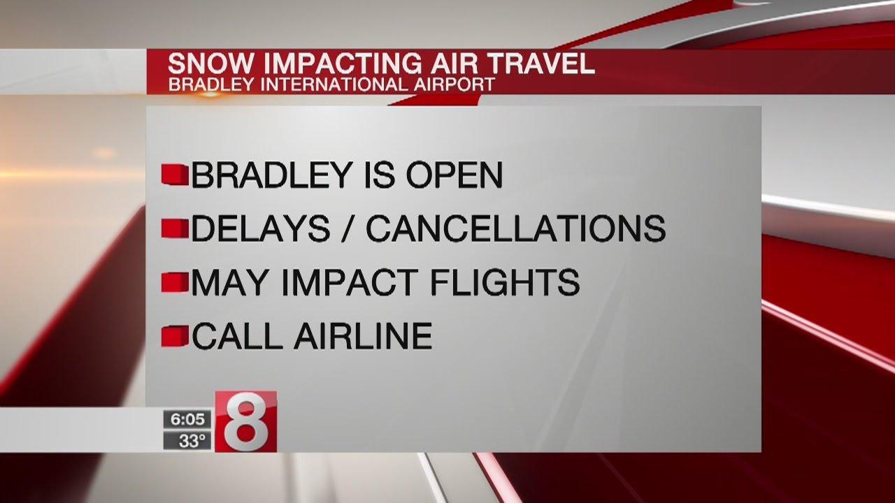 Bradley International Airport remains open, some flights cancelled - Dauer: 19 Sekunden