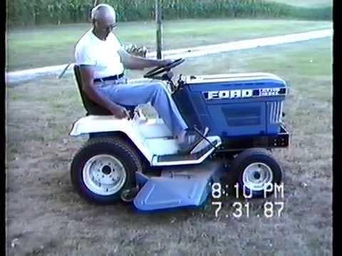 family movie ford ldt 140 diesel riding mower 07311987
