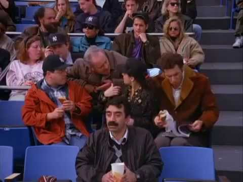 Seinfeld: Elaine refuses to take off her Orioles hat at the Yankees game