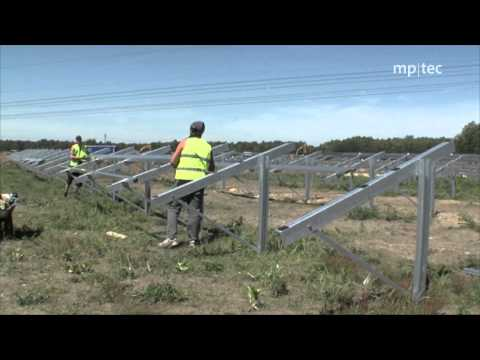 How to erect a solar power plant: reference project by mp-te