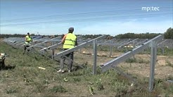 How to erect a solar power plant: reference project by mp-tec