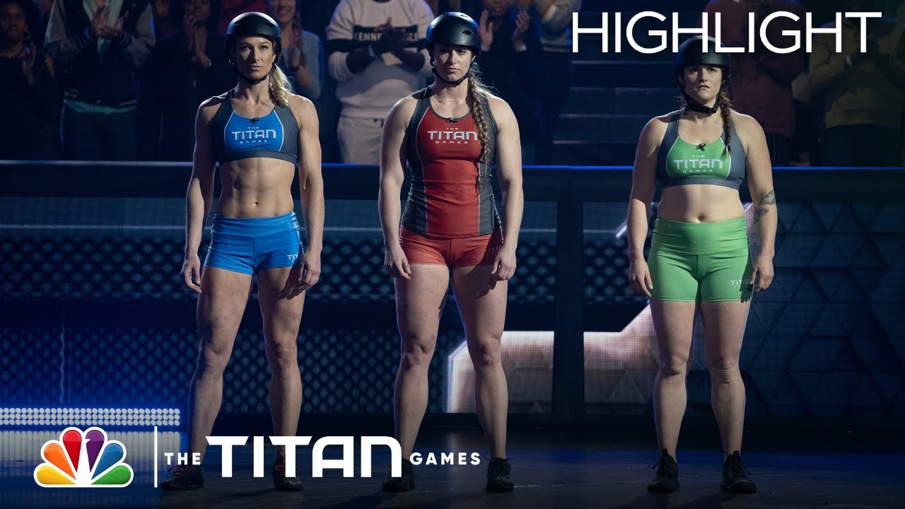 Jessie Graff, Kelly Valdez and Lindsey Hamm Go Toe-to-Toe on Hammer Down - The Titan Games