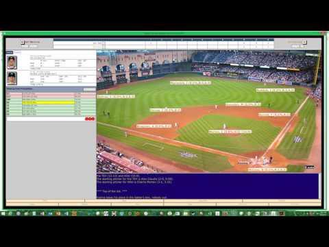 DIGITAL DIAMOND BASEBALL V6 2017 Texas Rangers @ Houston Astros 05/02/17