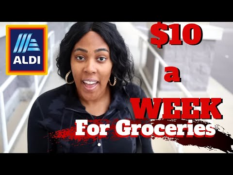 Groceries for a Week Only $10 at Aldi No Coupons ! No more eating out!