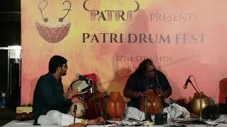 Kalabhairavastakam  @  240 BPM in TRIPLETS. Ghatam Karthick & Sarvesh Karthick @ Patri Drum Fest