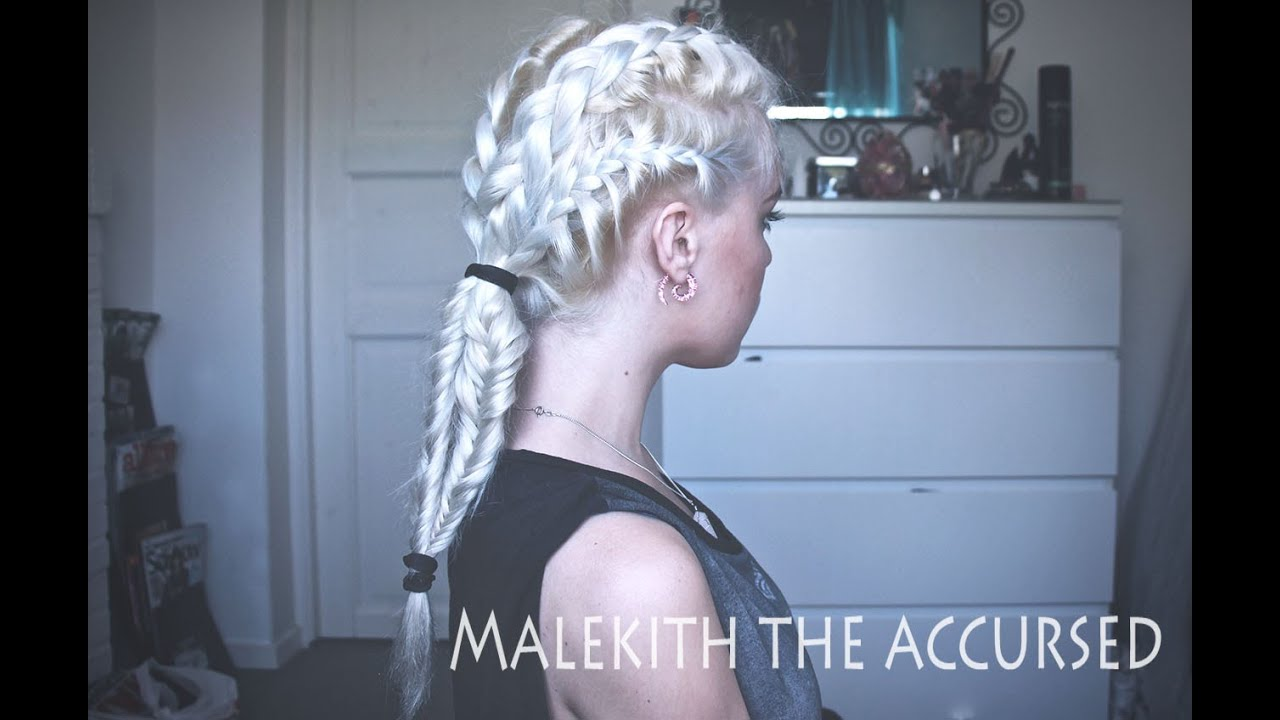Thor 2 Malekith Inspired Braid Hairstyle Youtube