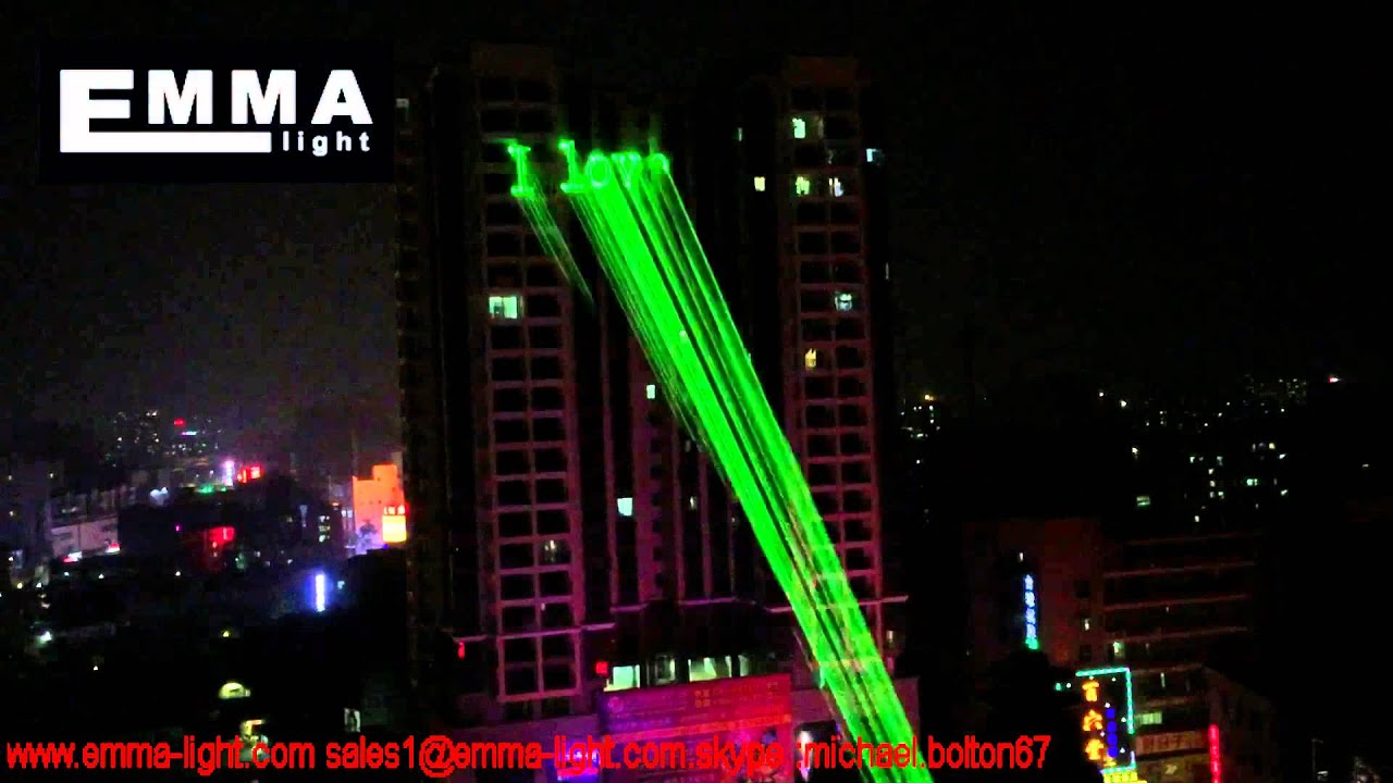 10w Green Advertising Show Laser Light Laser Animation