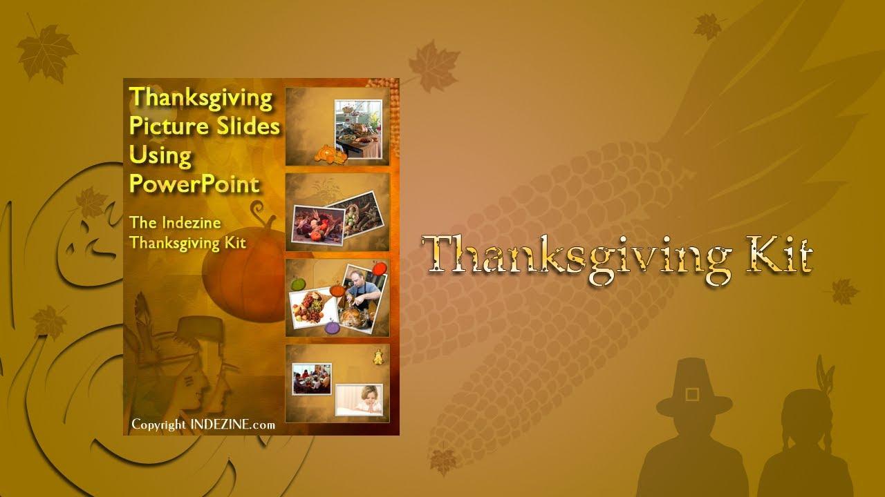 Thanksgiving Kit for PowerPoint Presentations - YouTube