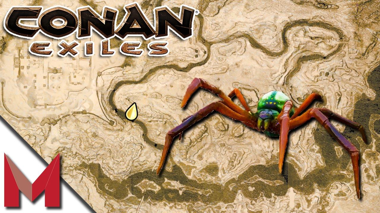 CONAN EXILES GOSSAMER LOCATION / SPIDER CAVE -=- CONAN EXILES GAMEPLAY -=-  E4