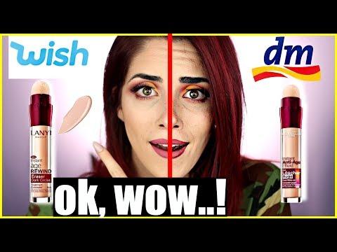 Das ist übel...😱WISH Make up VS DROGERIE Make up! Full face Vergleich! Luisacrashion