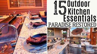 15 Outdoor Kitchen Essentials