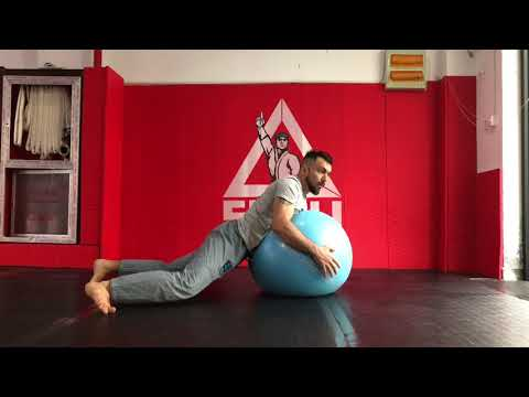 Solo Yoga Ball Sprawl Drill - BJJ Conditioning