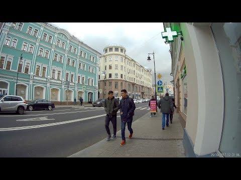 Улица Сретенка, проспект Академика Сахарова. Прогулка 25 октября 2017 года.