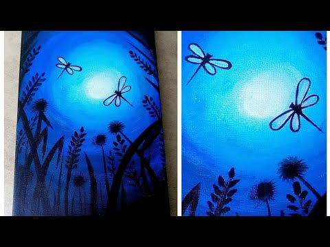Easy canvas art/easy acrylic painting tutorial /Malayalam video thumbnail