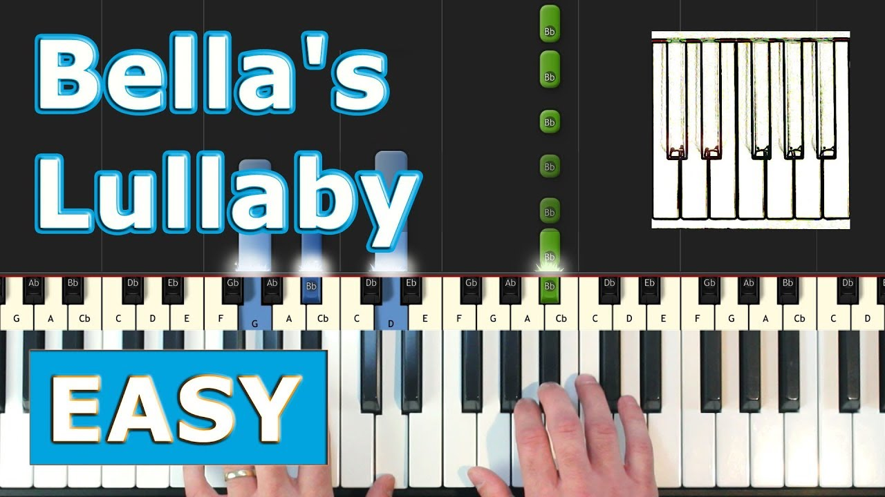 Bella S Lullaby Piano Tutorial Easy Twilight Sheet Music Synthesia Youtube