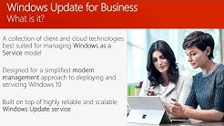 Learn how to service Windows 10 using Windows Update for Business - BRK3049