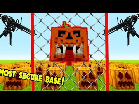MOST SECURE PUMPKIN BASE EVER! | Little Kelly Plays