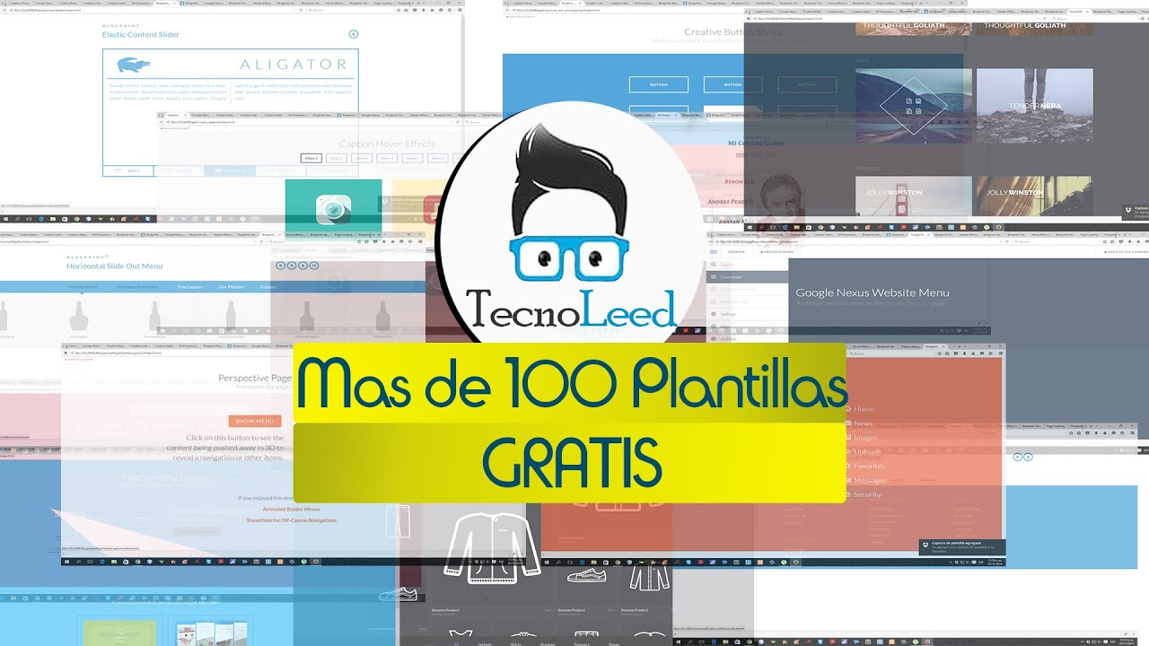 Como Descarga mas de 100 plantillas web gratis - YouTube