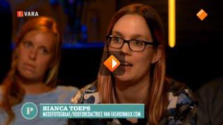 Bianca Toeps van Fashionmilk bij Pauw over Luigi C.(Bianca Toeps is te gast in de talkshow Pauw, waar het gaat over de